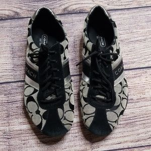 Coach 7.5 silver sneakers